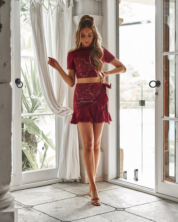 Nicola Set - Red - SHOPJAUS - JAUS