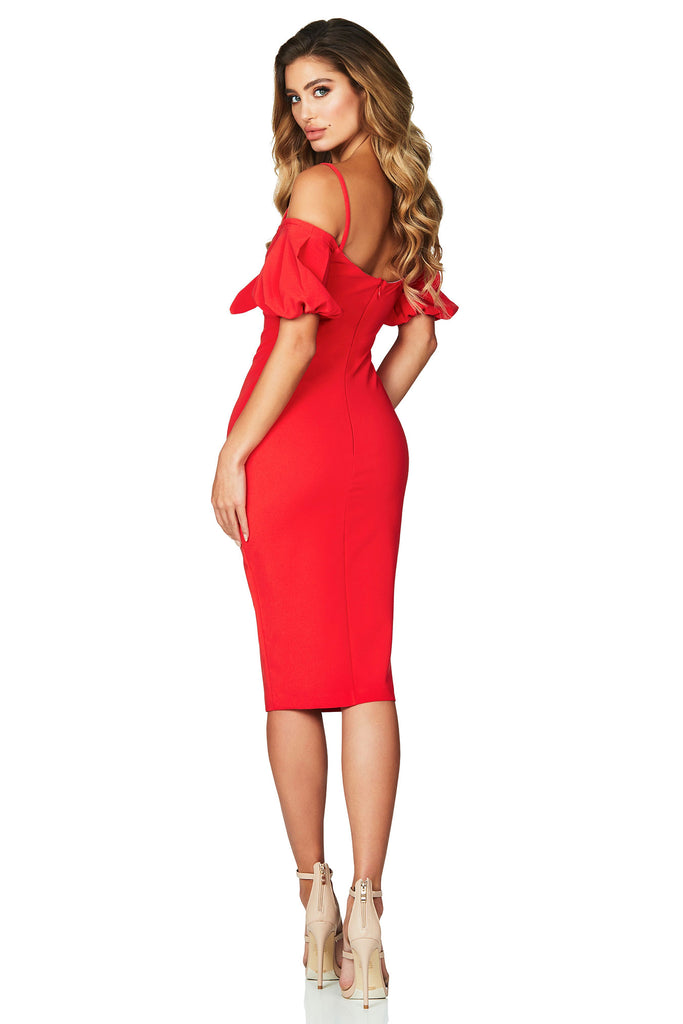 Nookie Belle Midi Dress - Cherry - SHOPJAUS - JAUS