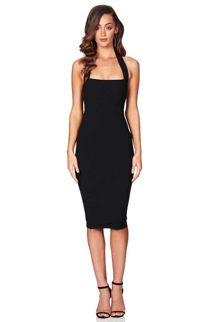 Nookie Boulevard Midi Dress - Black - SHOPJAUS - JAUS