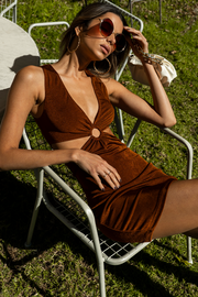 Mercy Cut Out Dress - Copper