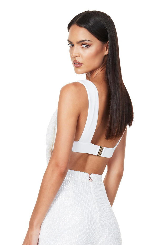 Nookie Pandora Crop - White