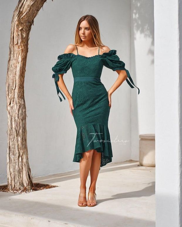 Parker Dress - Green - SHOPJAUS - JAUS