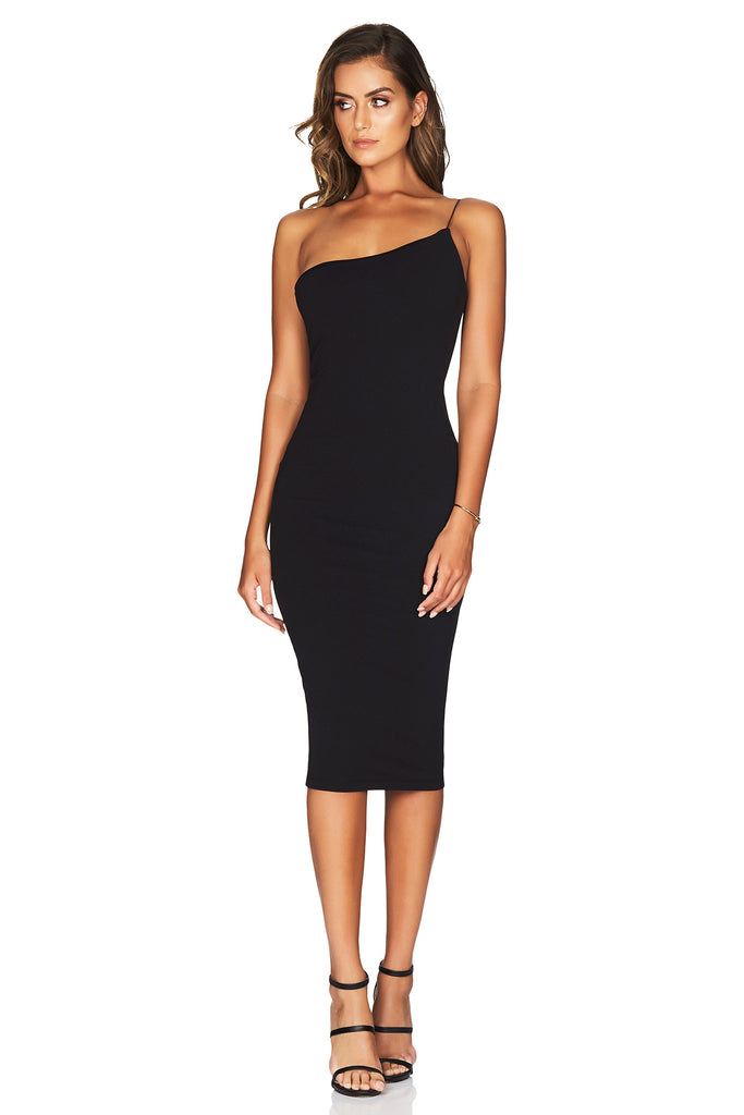 Nookie Penelope Midi Dress - Black - SHOPJAUS - JAUS