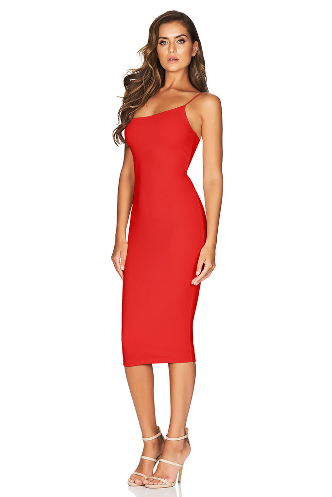 Nookie Penelope Midi Dress - Red