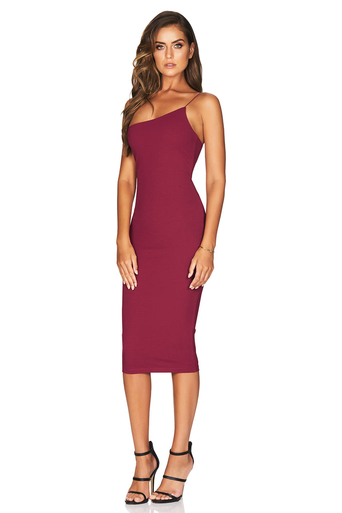 Nookie Penelope Midi Dress - Ruby - SHOPJAUS - JAUS