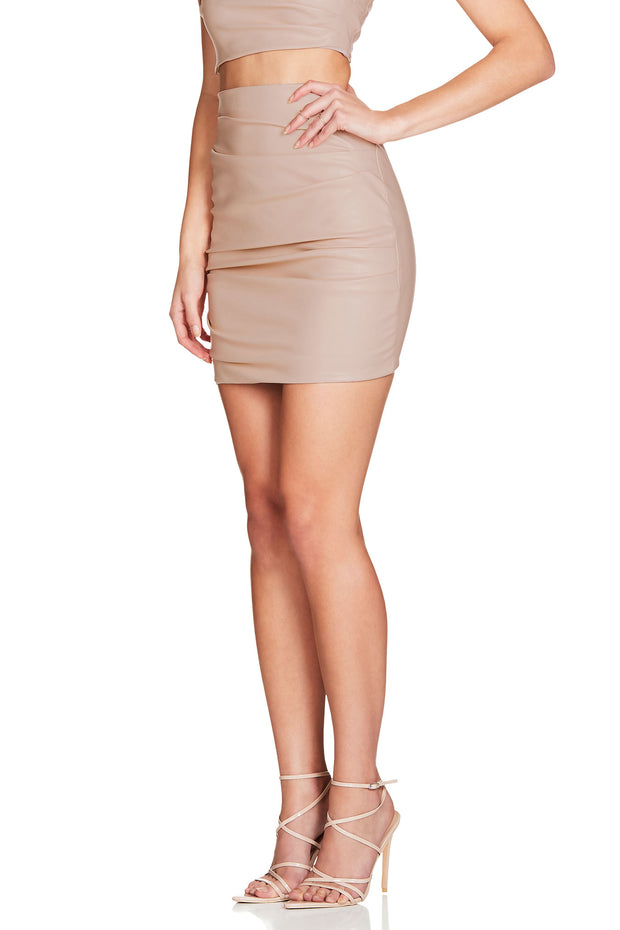 Nookie Posse Skirt - Nude - SHOPJAUS - JAUS