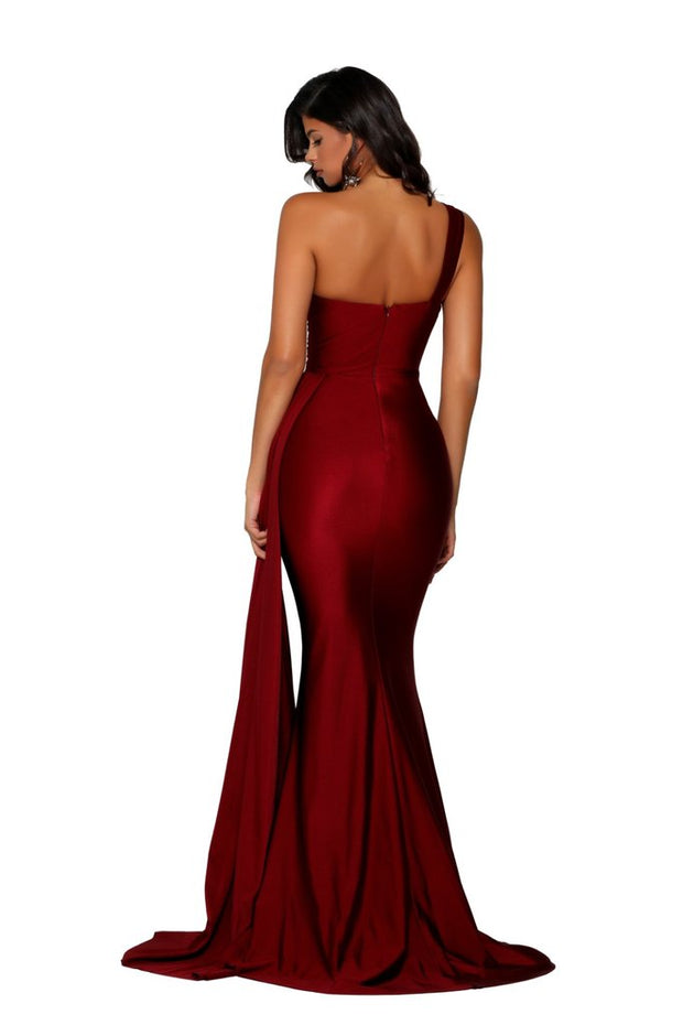 Portia & Scarlett PS6321 Gown - Deep Red