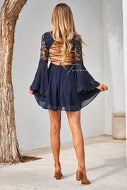 Paige Dress - Navy - SHOPJAUS - JAUS
