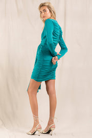 Paola Dress - Emerald Green