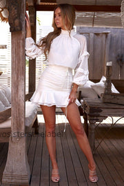 Piper Dress - White - SHOPJAUS - JAUS