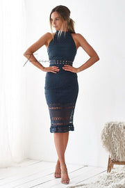 Rivers Midi Dress - Steel Blue - SHOPJAUS - JAUS