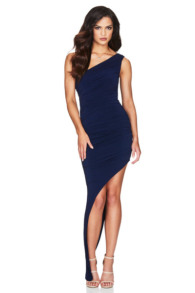 Nookie Rosie One Shoulder Gown - Navy - SHOPJAUS - JAUS