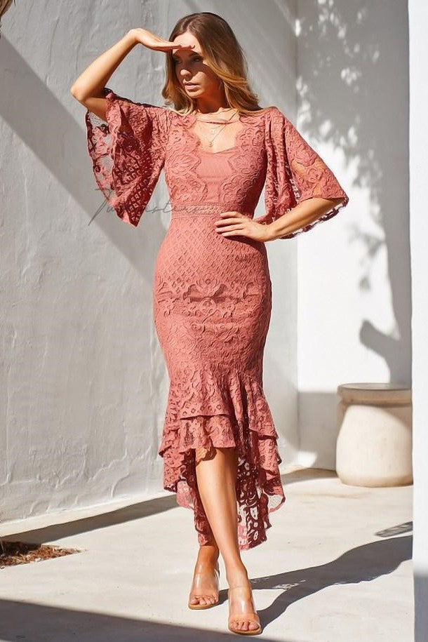 Reyna Dress - Mauve - SHOPJAUS - JAUS