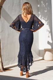 Reyna Dress - Navy - SHOPJAUS - JAUS