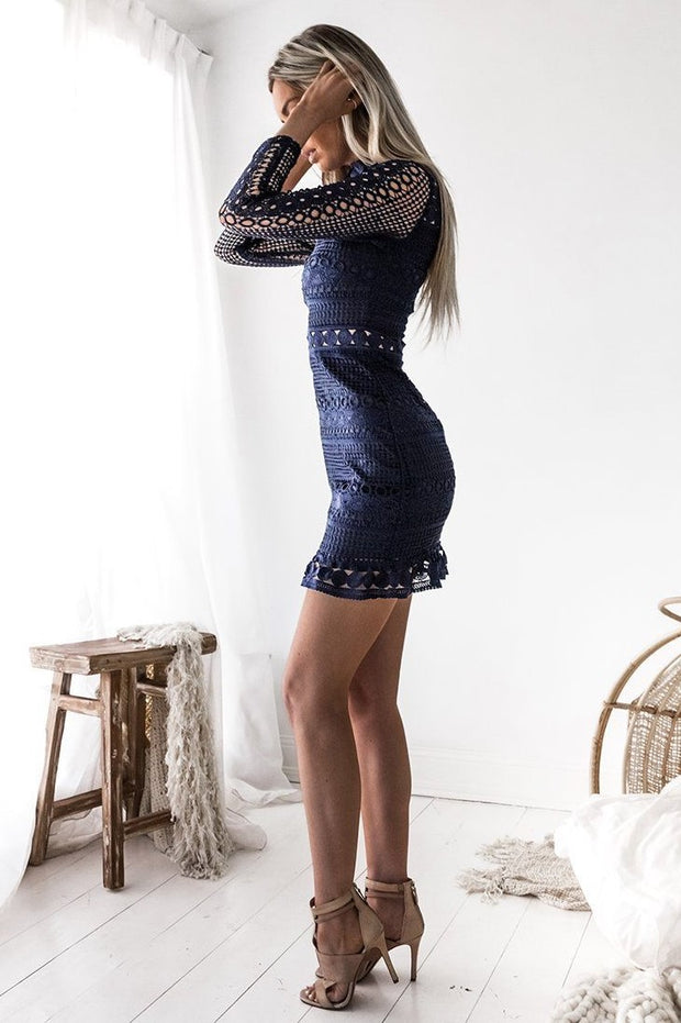 Riverdale Dress - Navy - SHOPJAUS - JAUS
