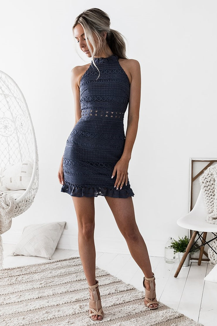 Rivers Dress - Steel Blue - SHOPJAUS - JAUS