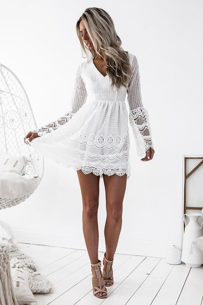 Romania Dress - White - SHOPJAUS - JAUS