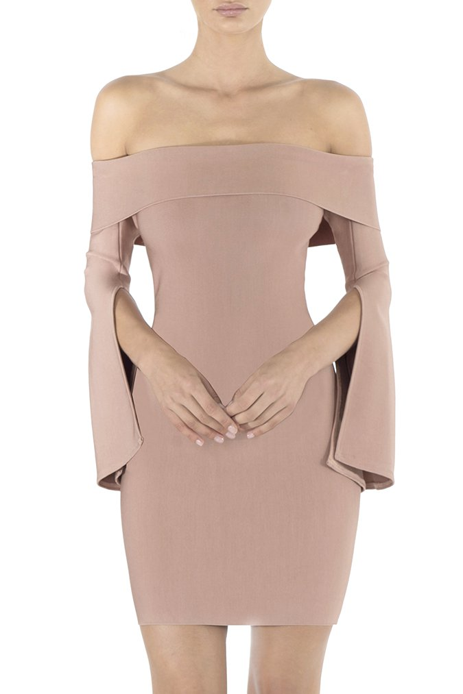 Misha Collection Rozie Bandage Mini Dress - Dusty Rose - SHOPJAUS - JAUS