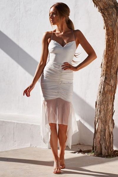 Rumi Dress - White - SHOPJAUS - JAUS