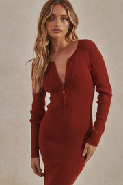 Ryder Knit Dress - Rust