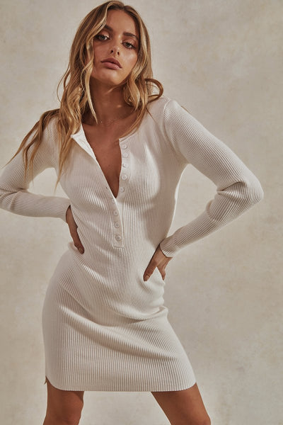 Ryder Knit Dress - White