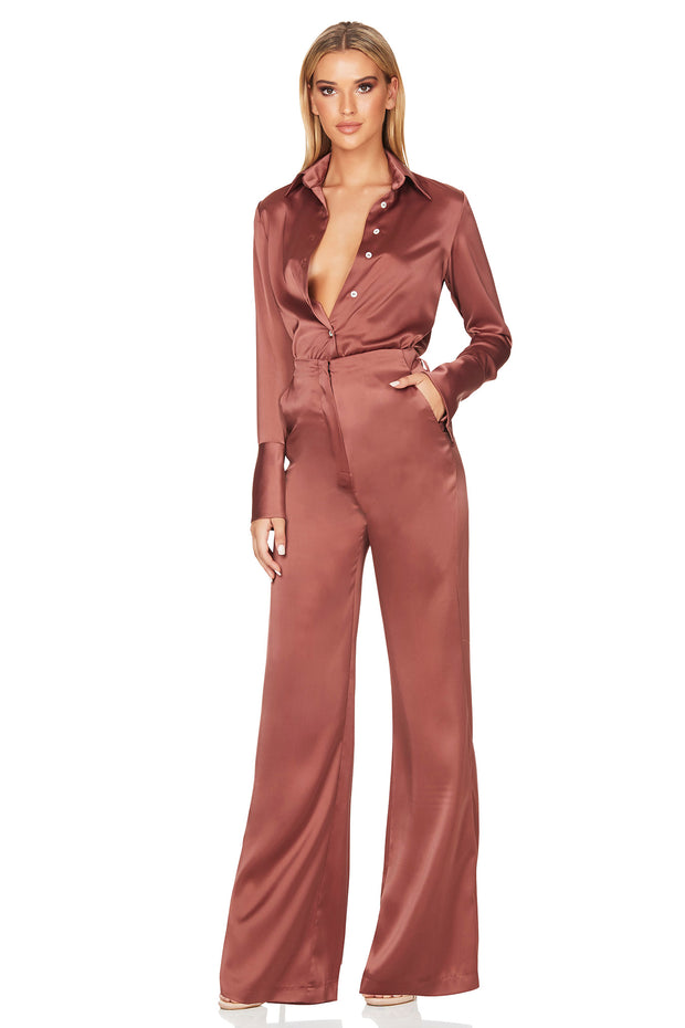Nookie Sasha Satin Pants- Mocha