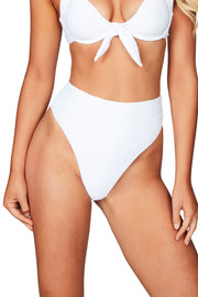 Nookie Savannah Rib High Waisted Briefs - White - SHOPJAUS - JAUS