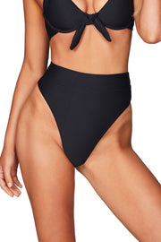 Nookie Savannah Rib High Waisted Briefs - Black - SHOPJAUS - JAUS