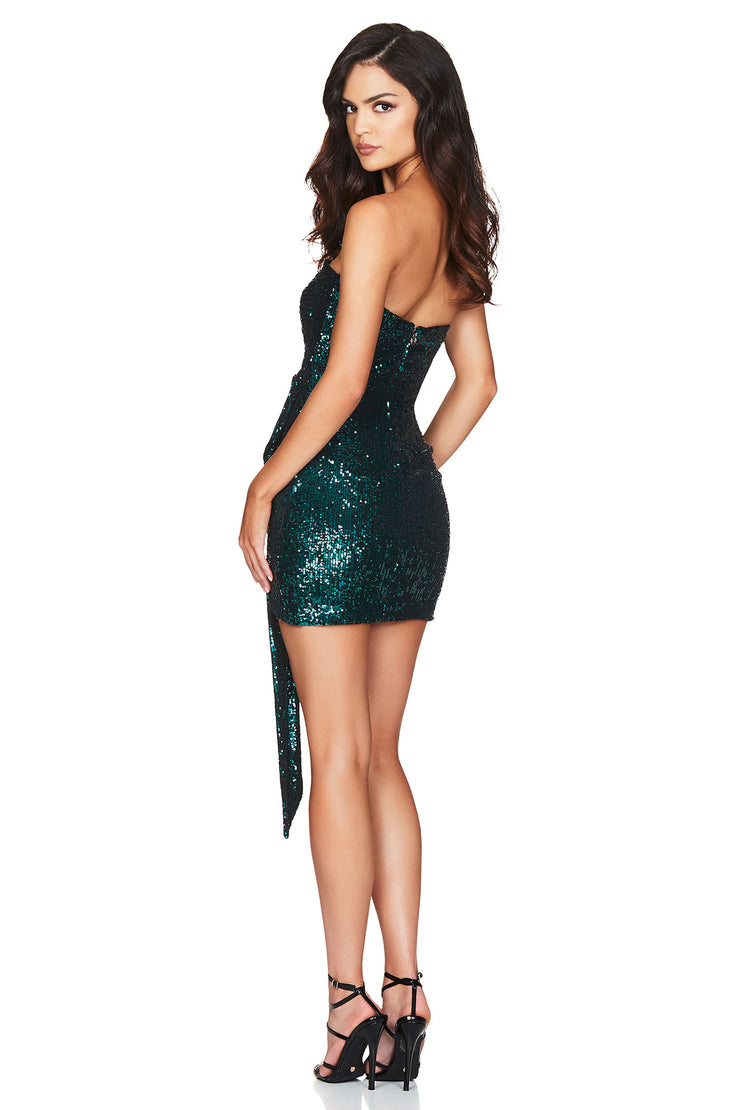 Nookie Selena Strapless Mini Dress - Teal - SHOPJAUS - JAUS