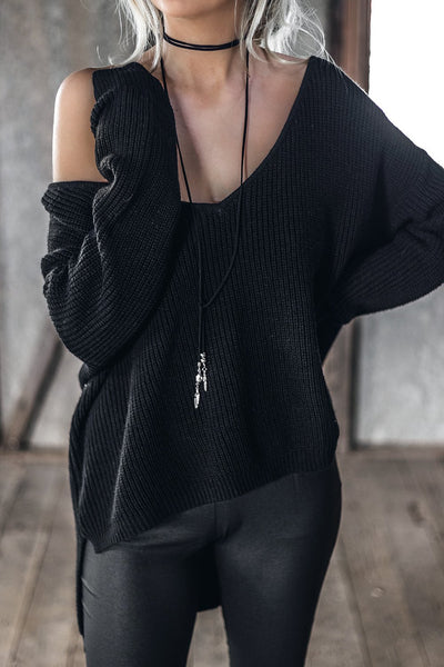 Sunday Morning Knit - Black - SHOPJAUS - JAUS