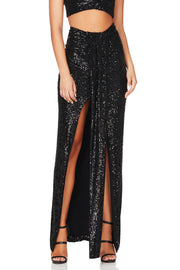 Nookie Sierra Sequin Skirt - Black