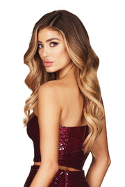 Nookie Siren Sequin Crop - Ruby - SHOPJAUS - JAUS