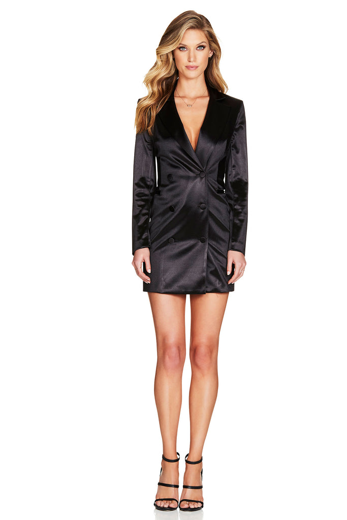 Nookie Slay Blazer Dress - Black