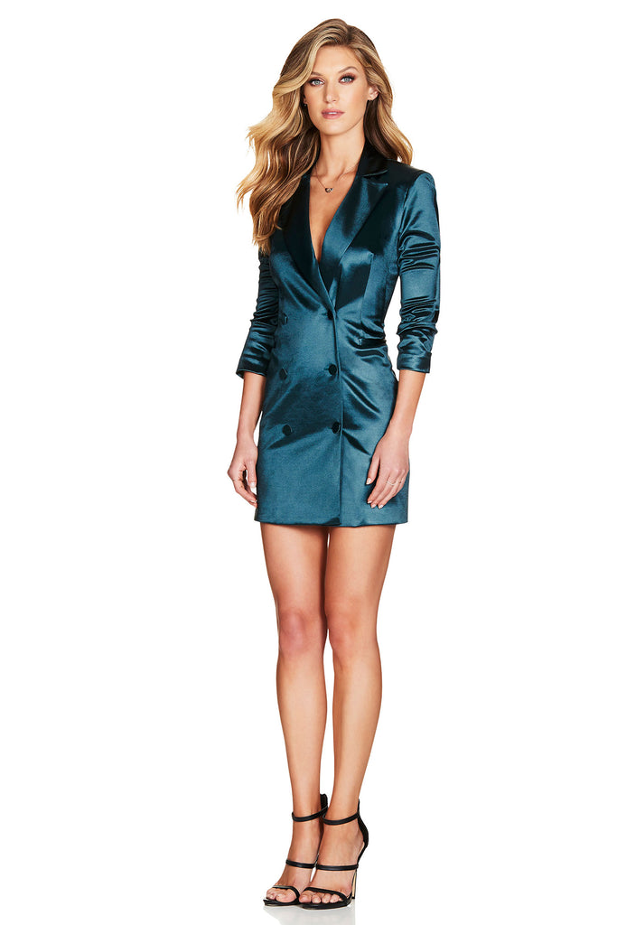 Nookie Slay Blazer Dress - Emerald