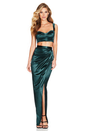 Nookie Slay Crop - Emerald - SHOPJAUS - JAUS