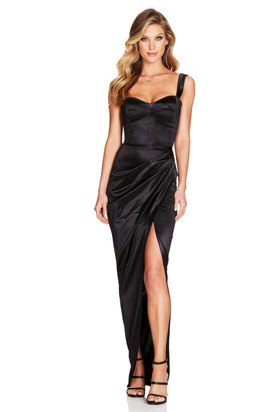 Nookie Slay Gown - Black - SHOPJAUS - JAUS