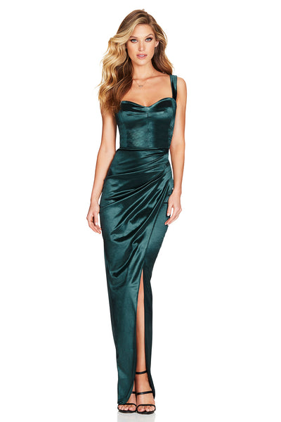 Nookie Slay Gown - Emerald - SHOPJAUS - JAUS