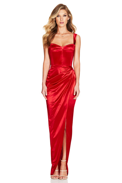 Nookie Slay Gown - Red - SHOPJAUS - JAUS