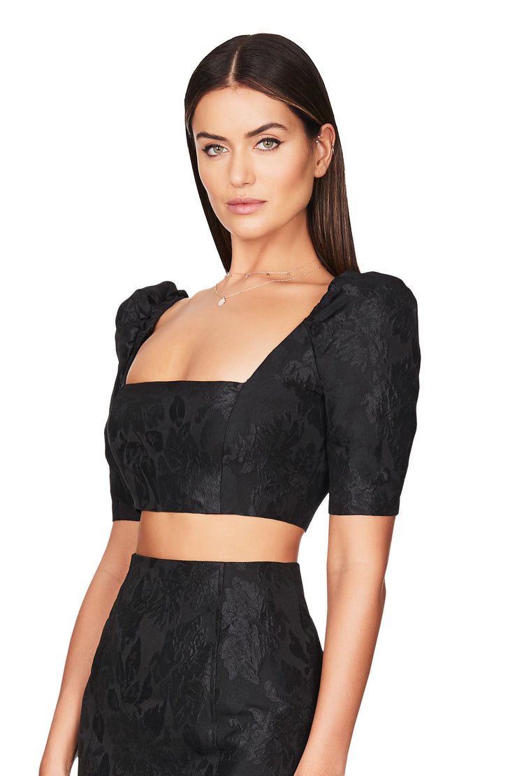 Nookie Solana Crop - Black - SHOPJAUS - JAUS
