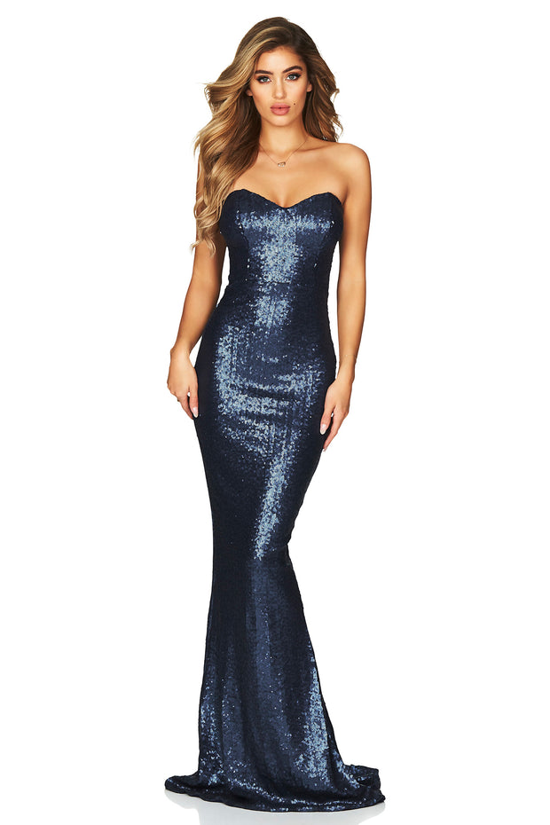 Nookie Spellbound Strapless Gown - Navy - SHOPJAUS - JAUS