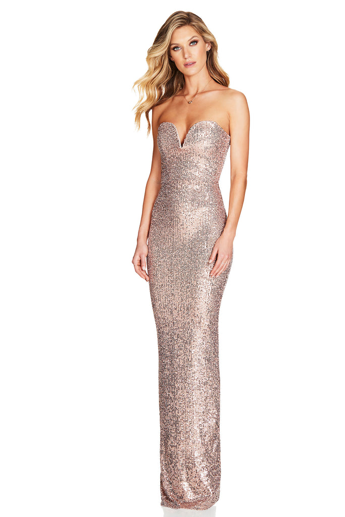 Nookie Fortune Gown - Rose Gold