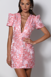 Suki Mini Dress - Pink Floral - SHOPJAUS - JAUS