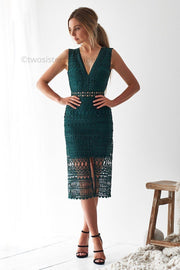 Scarlett Dress - Emerald Green - SHOPJAUS - JAUS