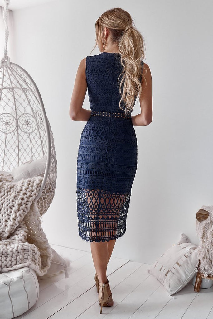 Scarlett Dress - Navy