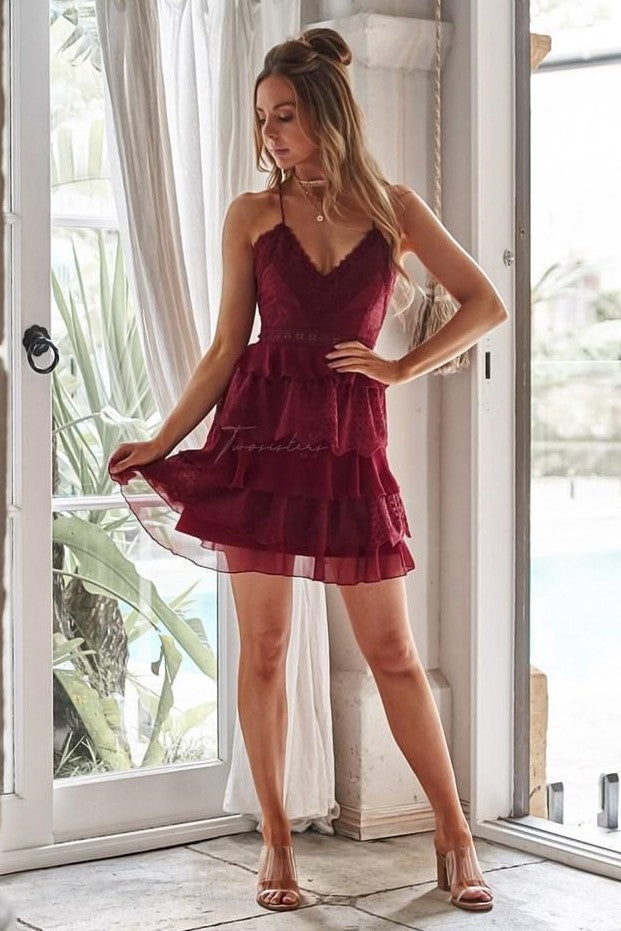 Shelby Dress - Red - SHOPJAUS - JAUS