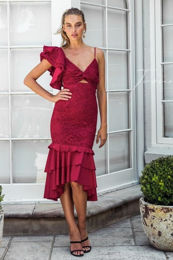 Sophia Dress - Red - SHOPJAUS - JAUS