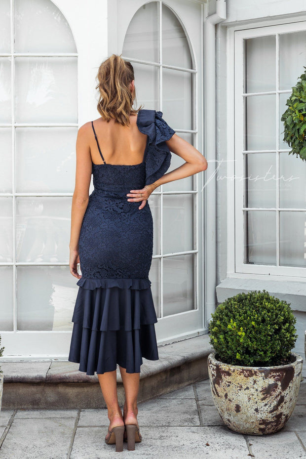 Sophia Dress - Navy - SHOPJAUS - JAUS