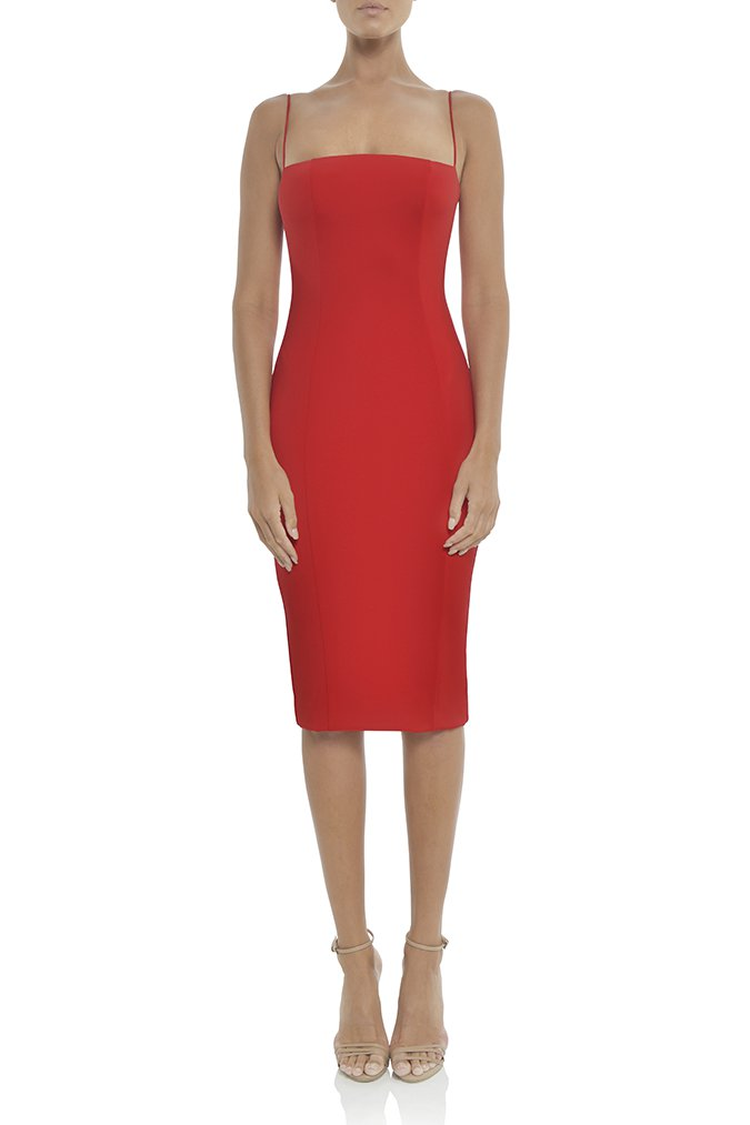 Misha Collection Sophie Dress - Red - SHOPJAUS - JAUS