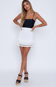 Stevie Skirt - White - SHOPJAUS - JAUS