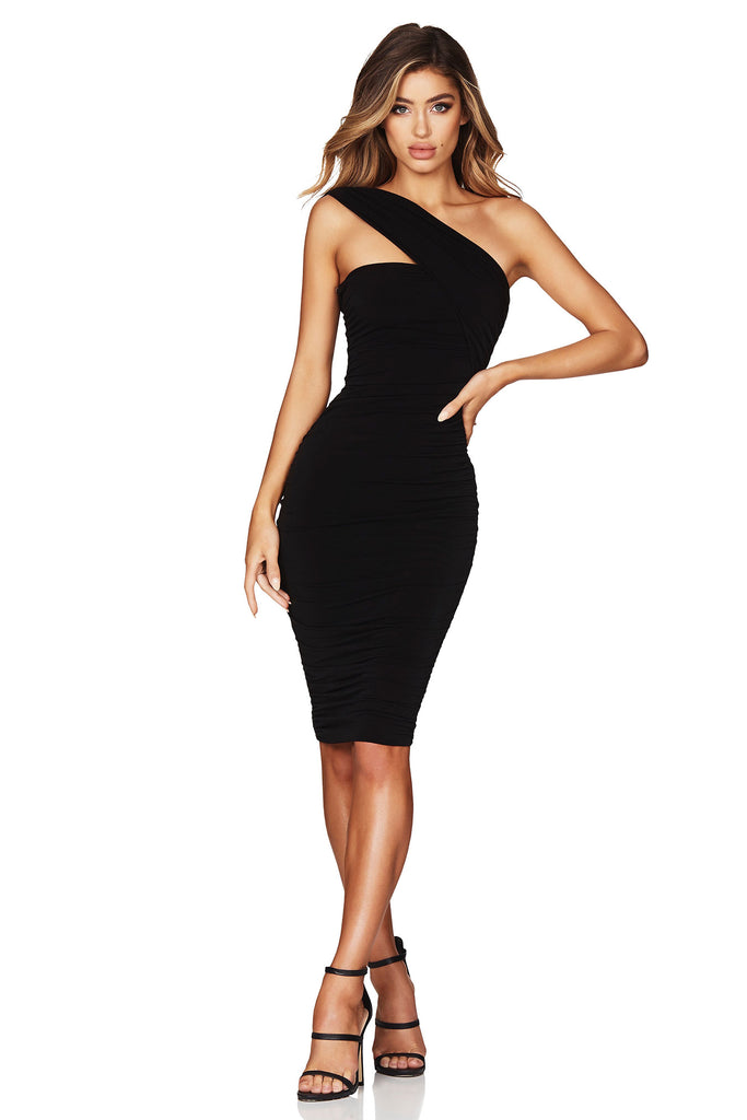 2a4773c67 Nookie Temptation One Shoulder Midi Dress - Black – JAUS